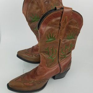 Dan Post Leather Western Boots with Cut Outs